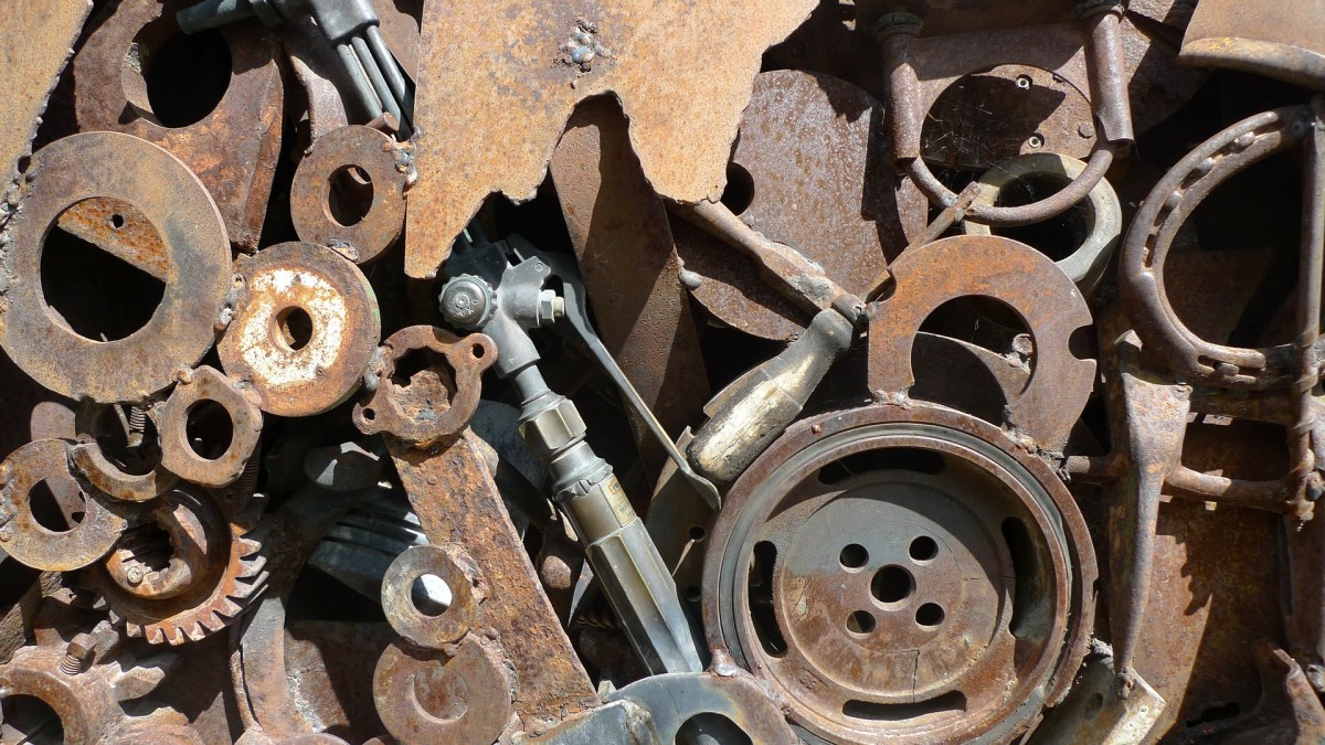 An incredible amount of steel comes from auto salvage yards.