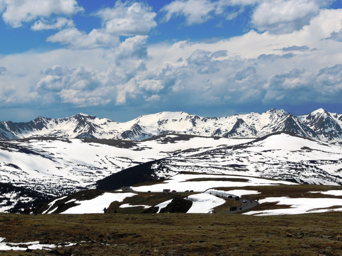 View from Alpine Visitor Center on Trail Ridge Road in Rocky Mountain National Park.