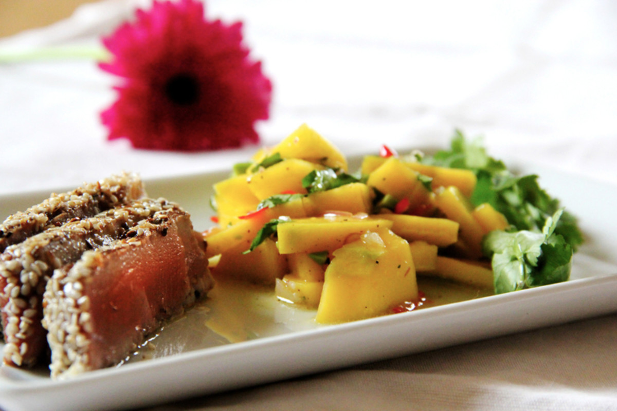 Salmon with a side of steamed vegetables is a great anti-inflammatory meal.