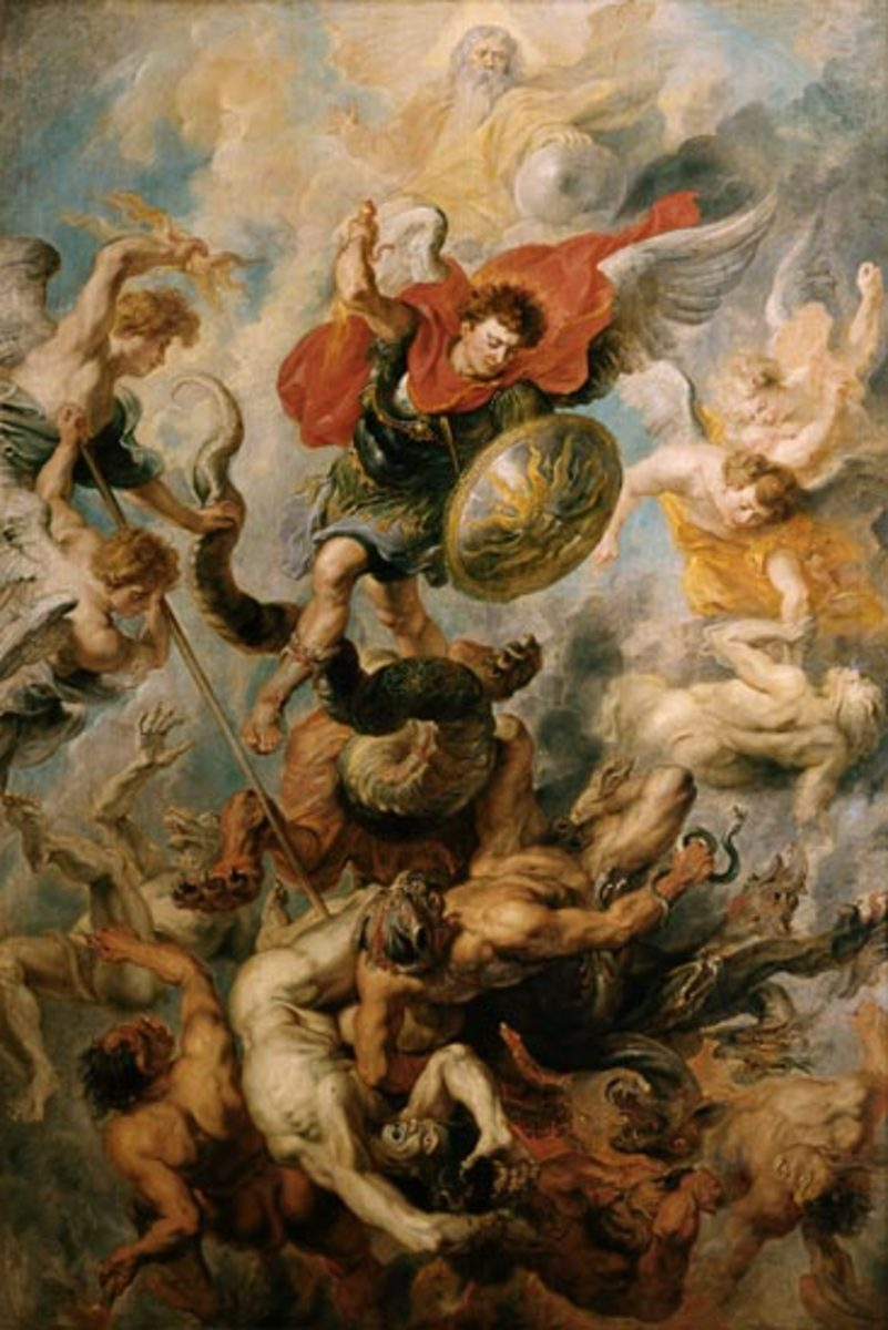 St. Michael and fallen angels by Rubens, 17th century