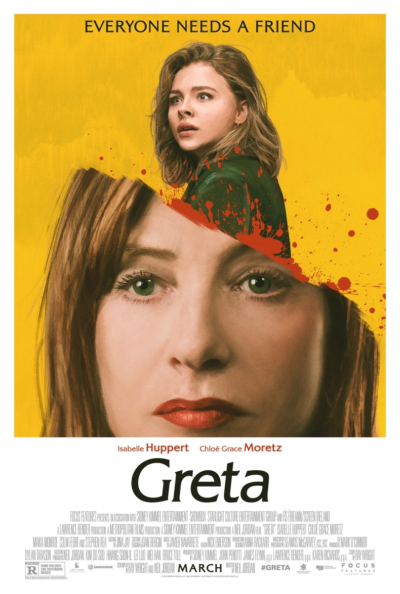 """The official one-sheet theatrical poster for, """"Greta."""""""