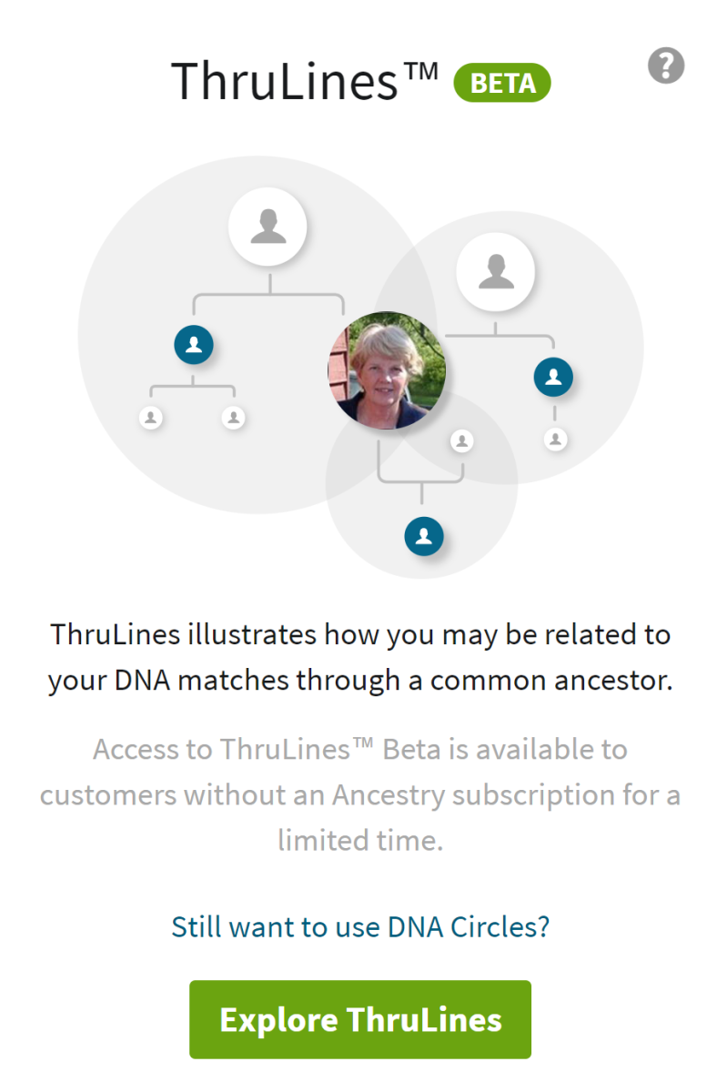 Using ThruLines on Ancestry.com