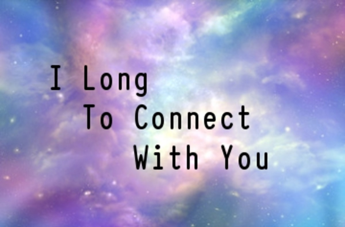 Poem:  I Long To Connect With You