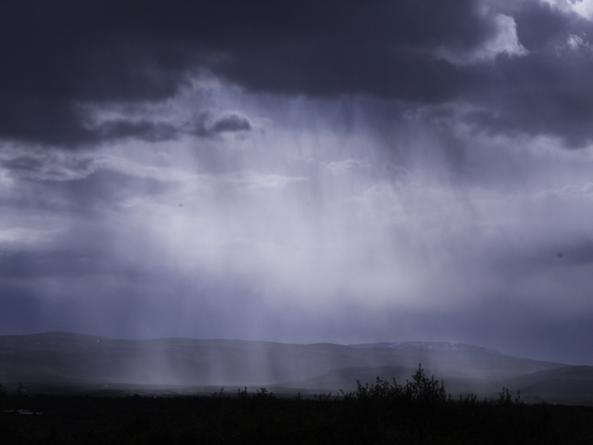 Here comes the rain again to wash away past troubles for the time being.
