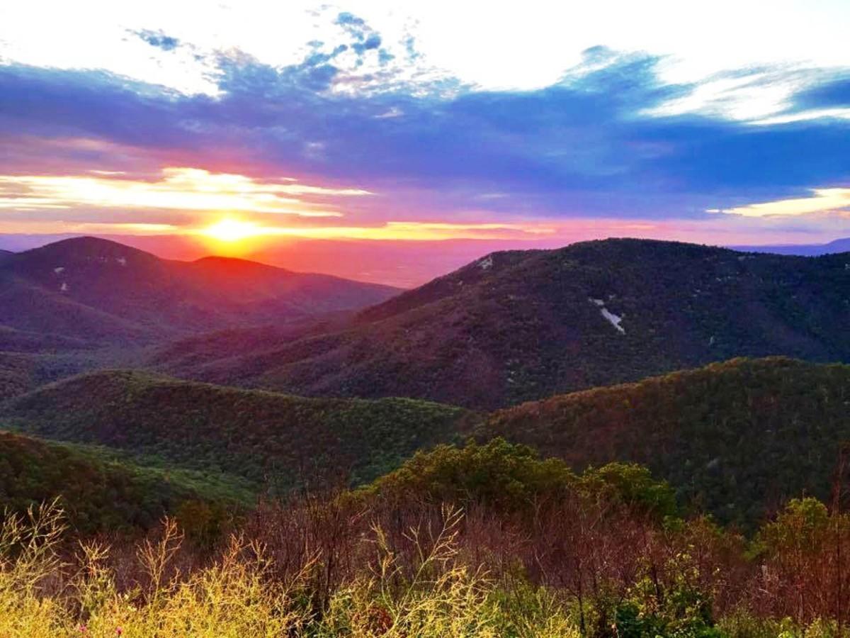 Sunset off of Skyline Drive in Shenandoah National Park