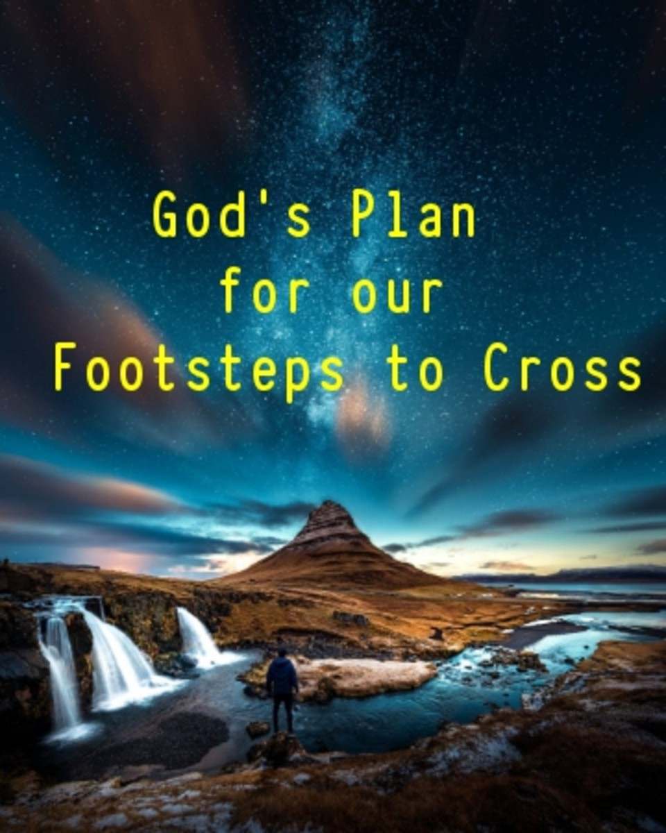 Poem: God's Plan for Our Footsteps to Cross