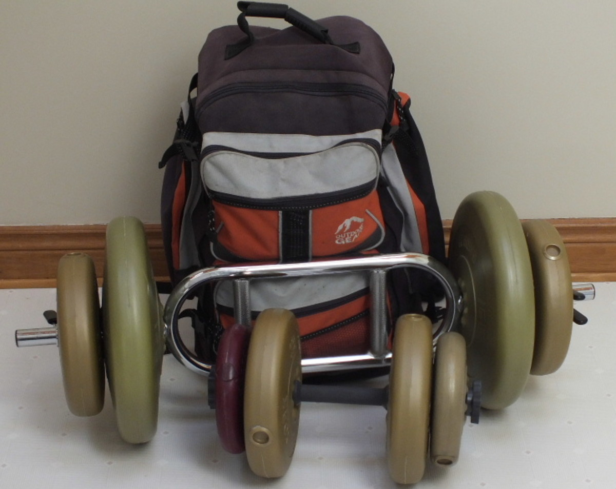 Some of the exercise equipment I use.