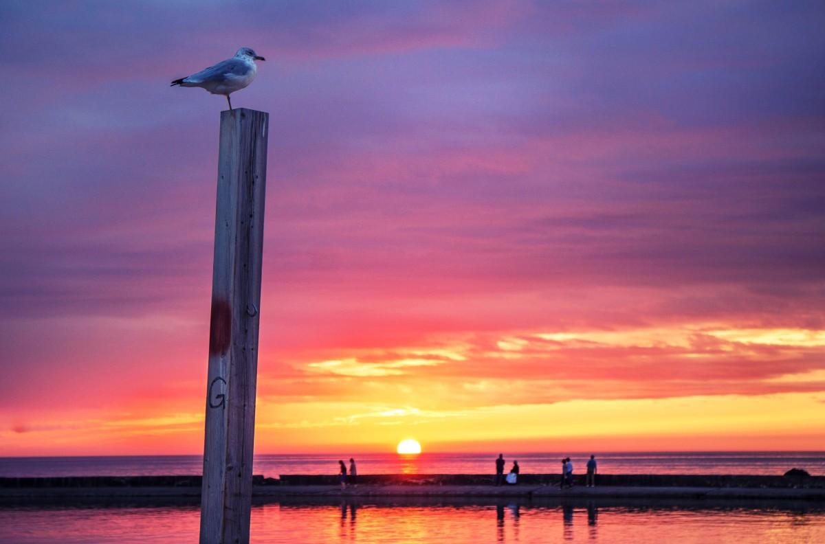 Sunset at Port Elgin on Lake Huron