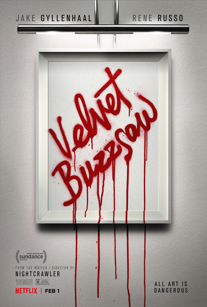 """The official artwork for Dan Gilroy's, """"Velvet Buzzsaw."""""""