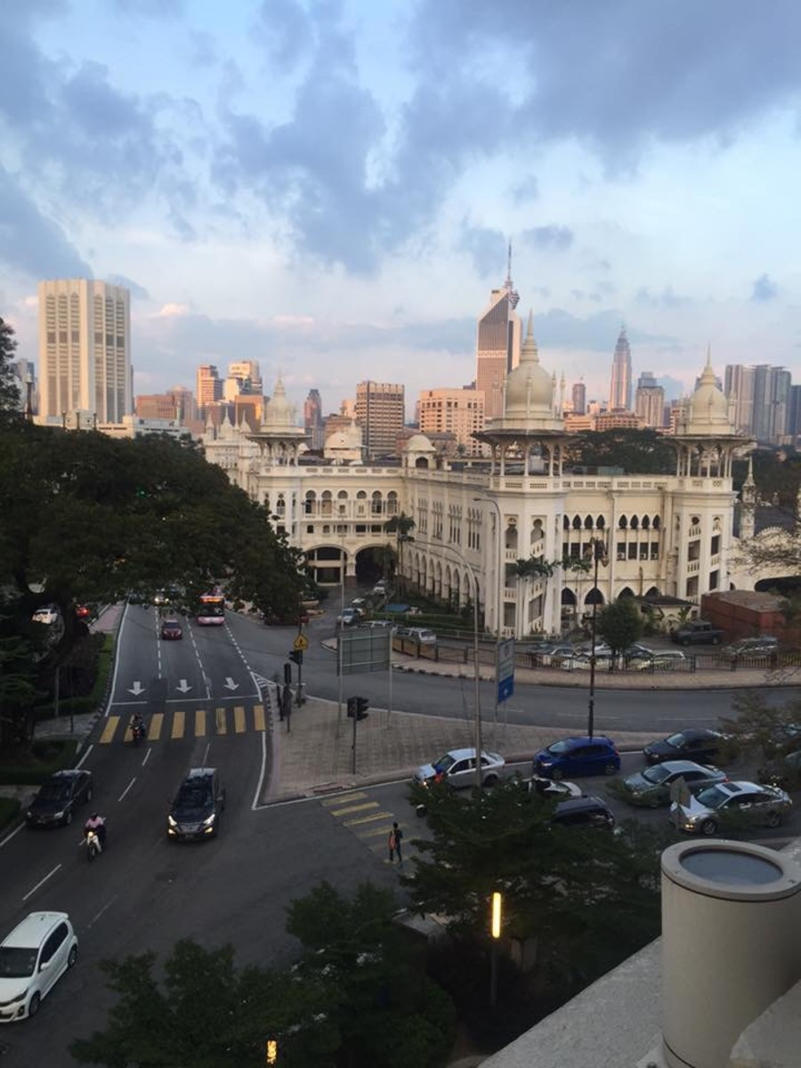 This picture was taken from a Colonial Building in the heart of Kuala Lumpur during the sunset hour.