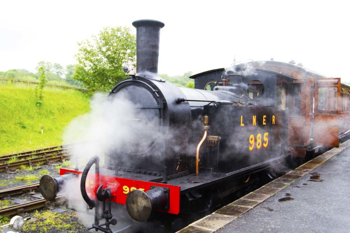 Steam Train at Beamish Station, North England