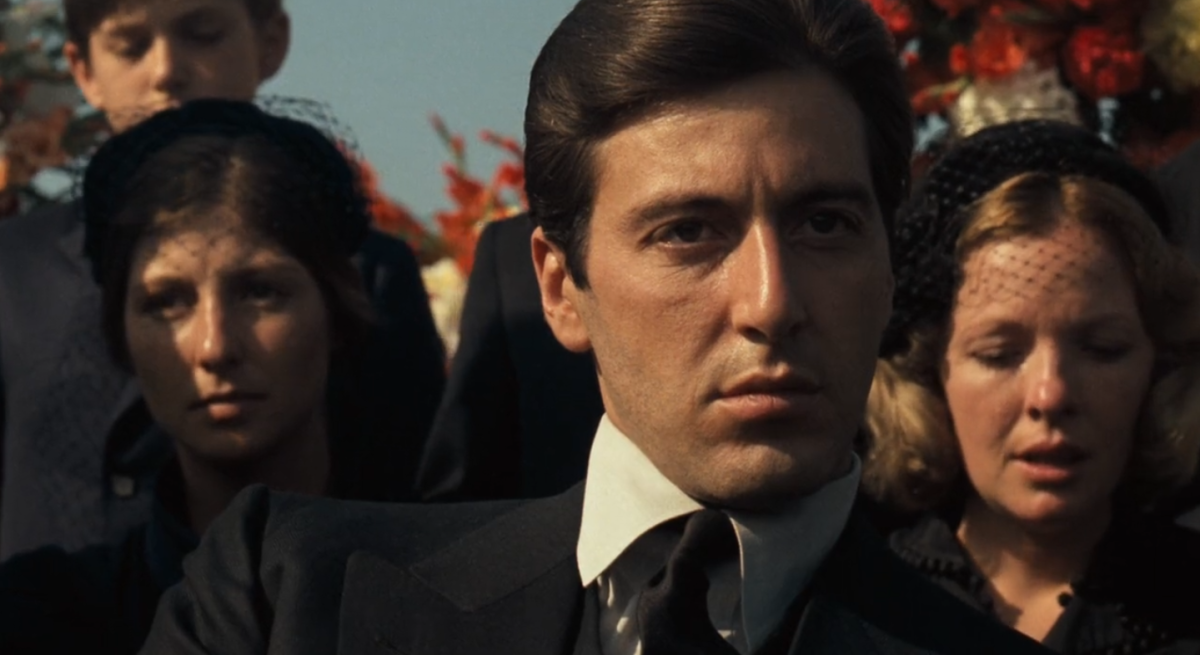 Michael Corleone at his father's funeral.