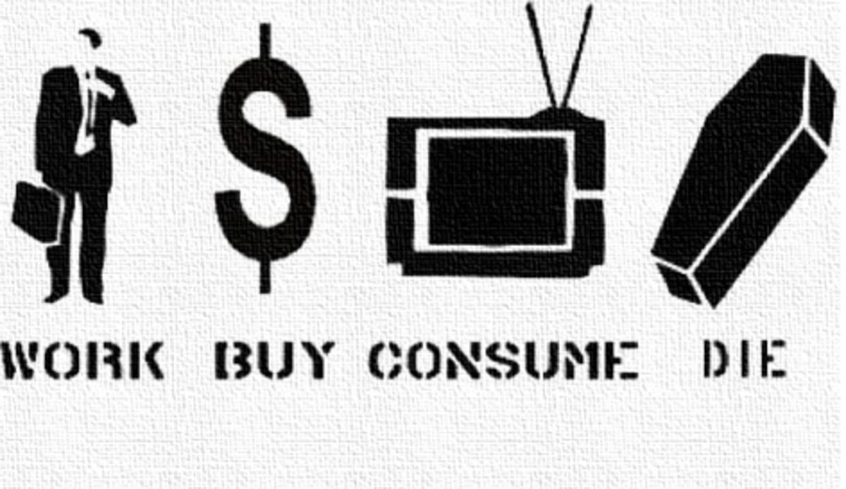 We live in a consumerist society that causes us to lose track of what really matters to us.