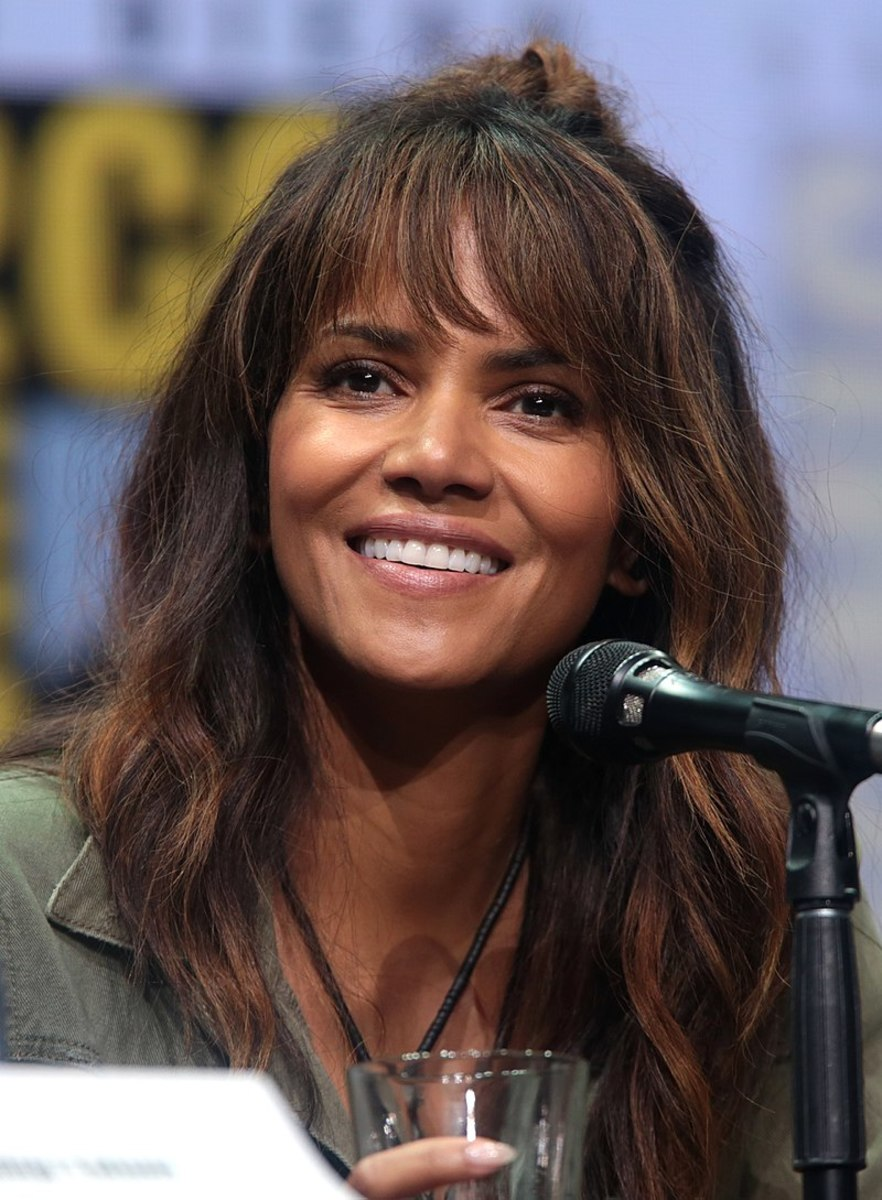 Halle Berry has a white mother and a black father.