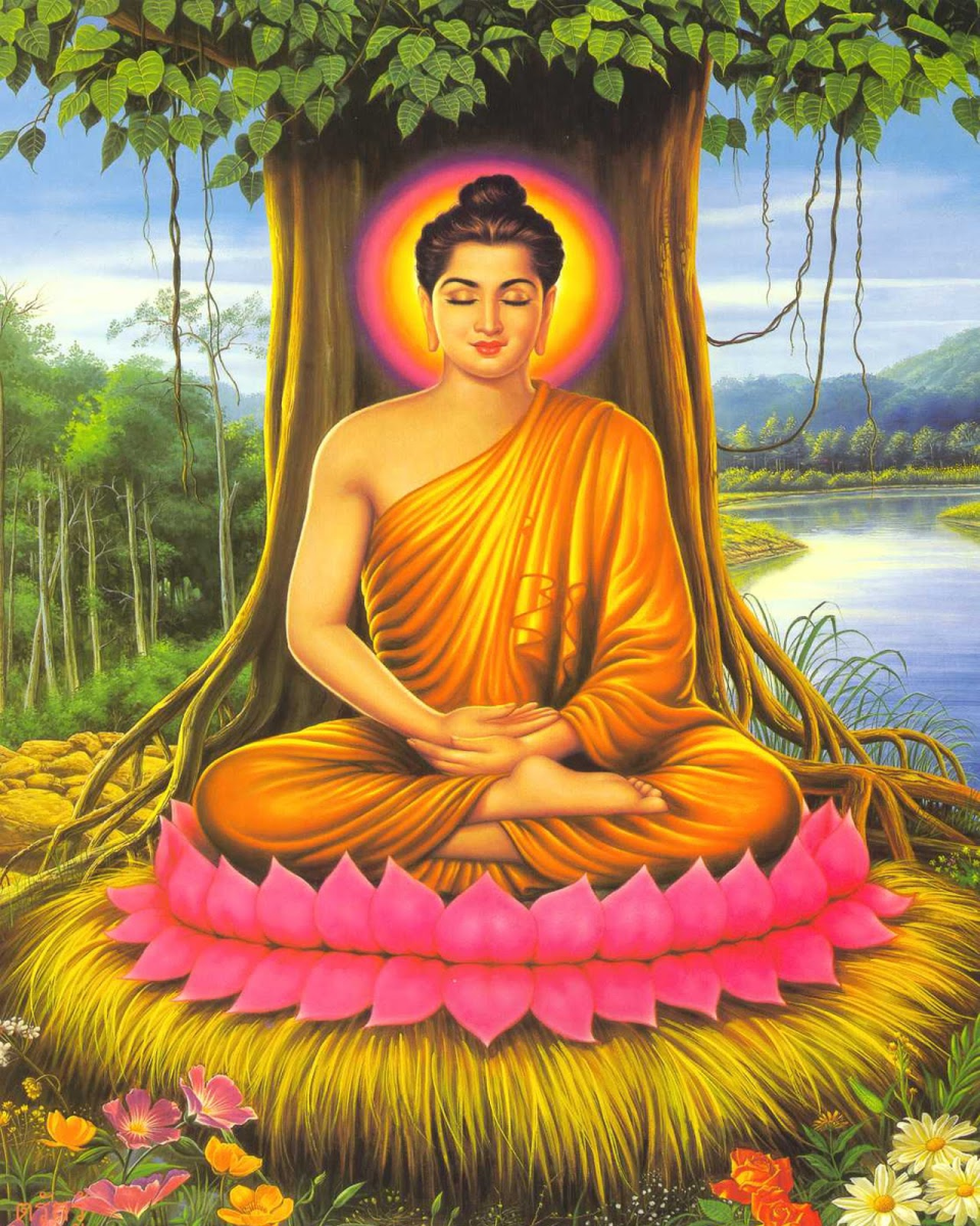 the Buddha in meditation, artist unknown