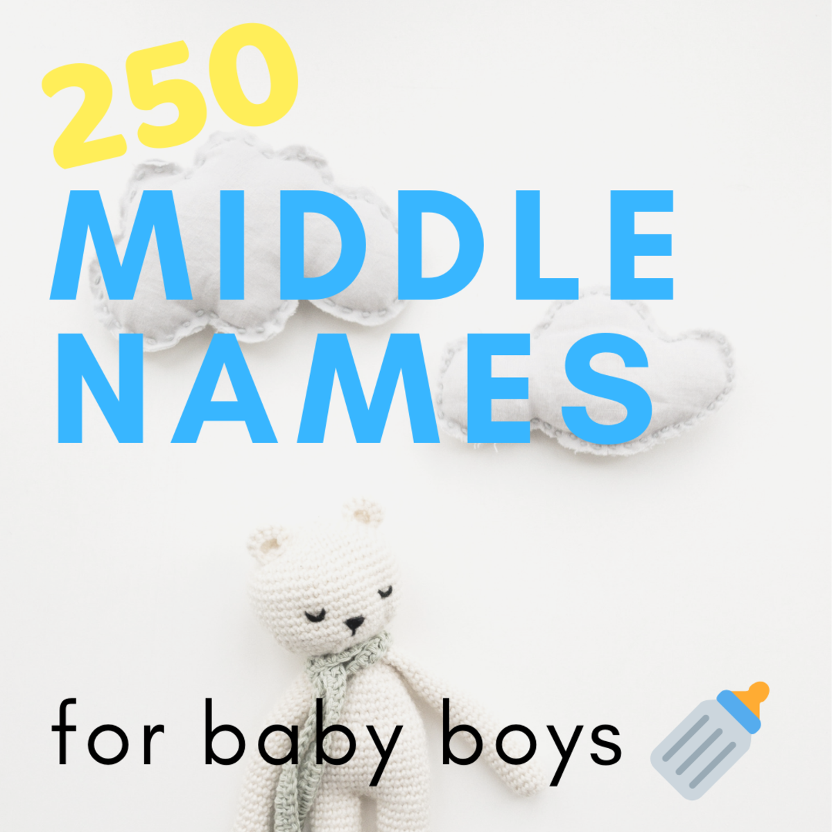 Middle name ideas for baby boys.
