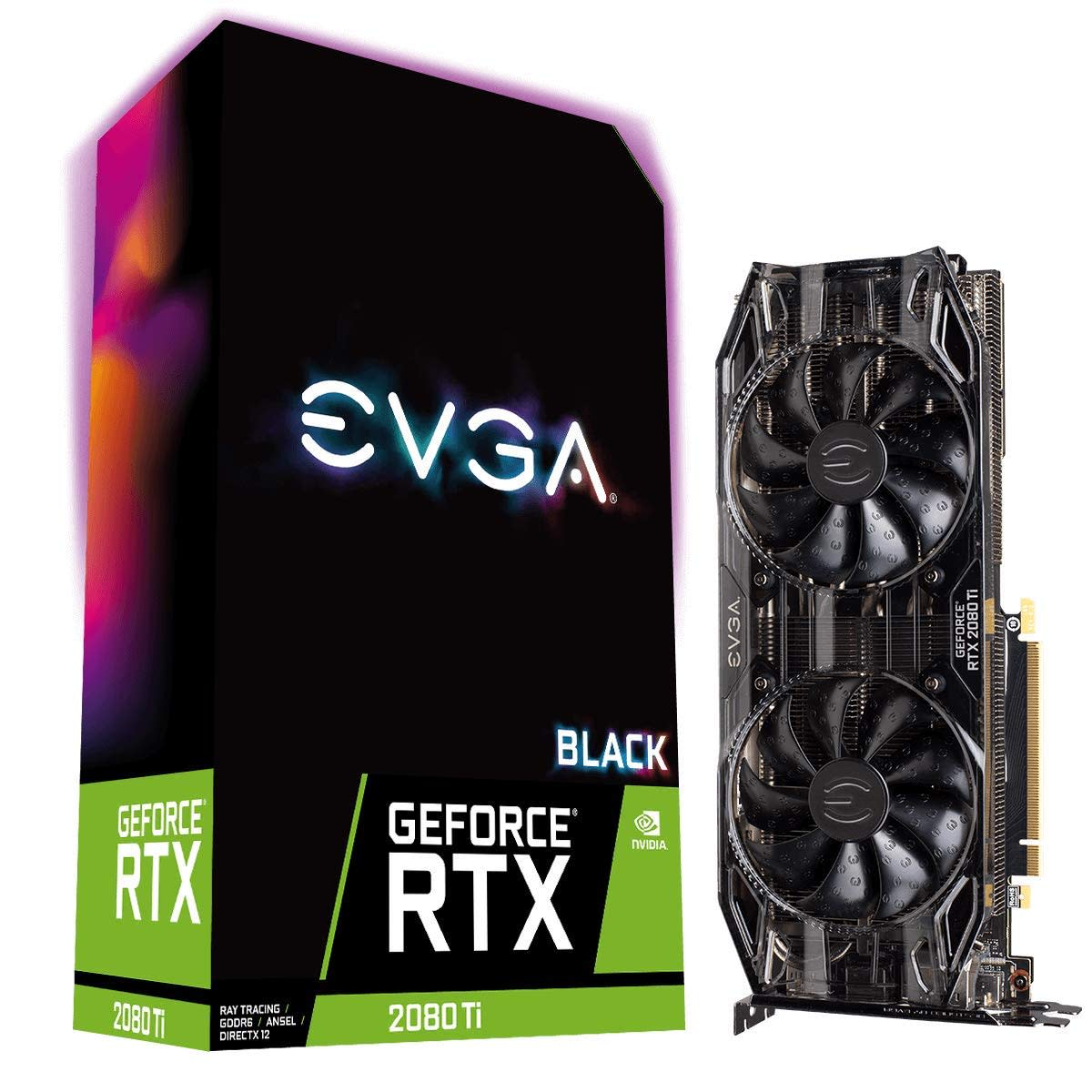EVGA nVidia RTX 2080 Ti Black Edition Gaming Graphics Card