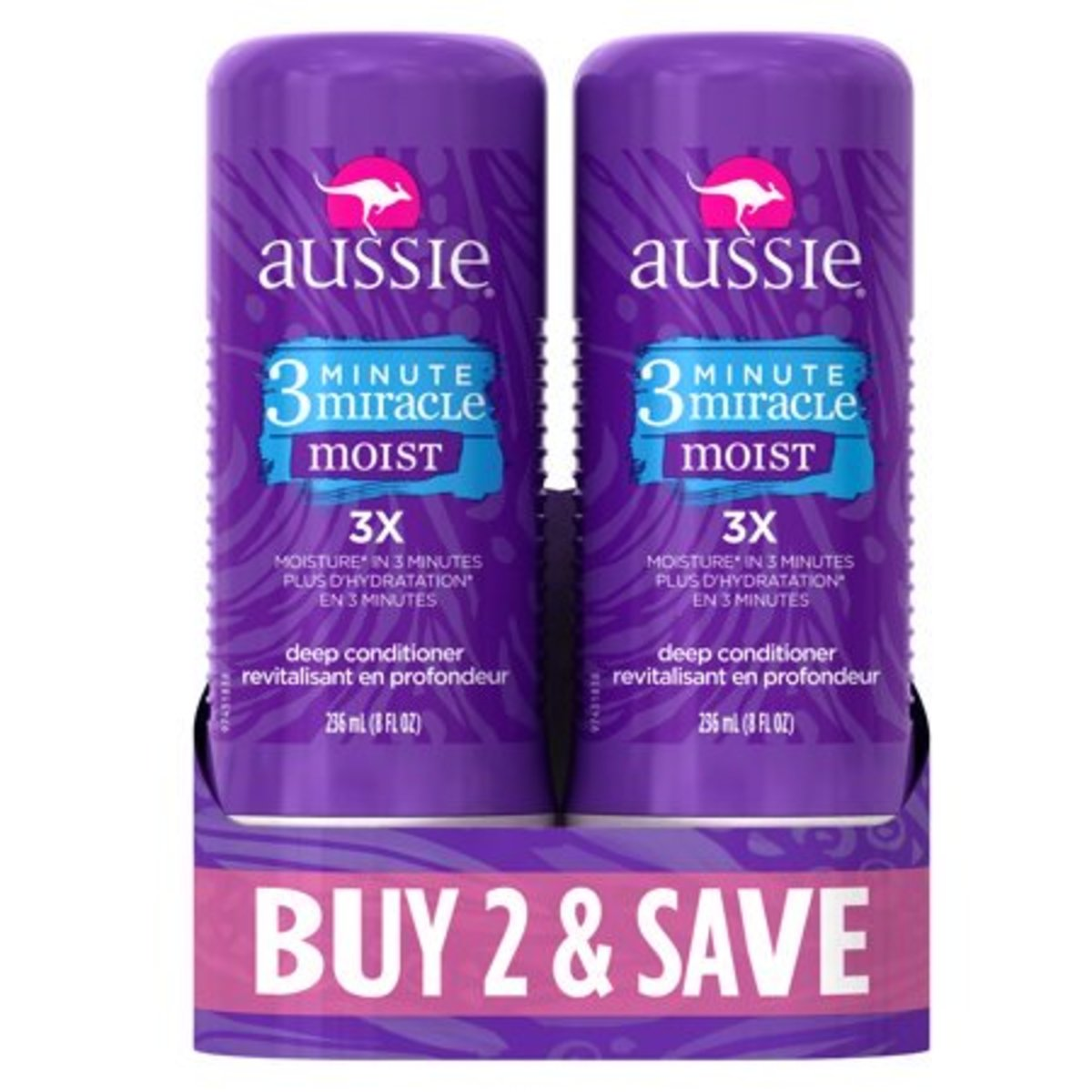 Aussie's 3 Minute Miracle two-pack is available at many Walmarts.