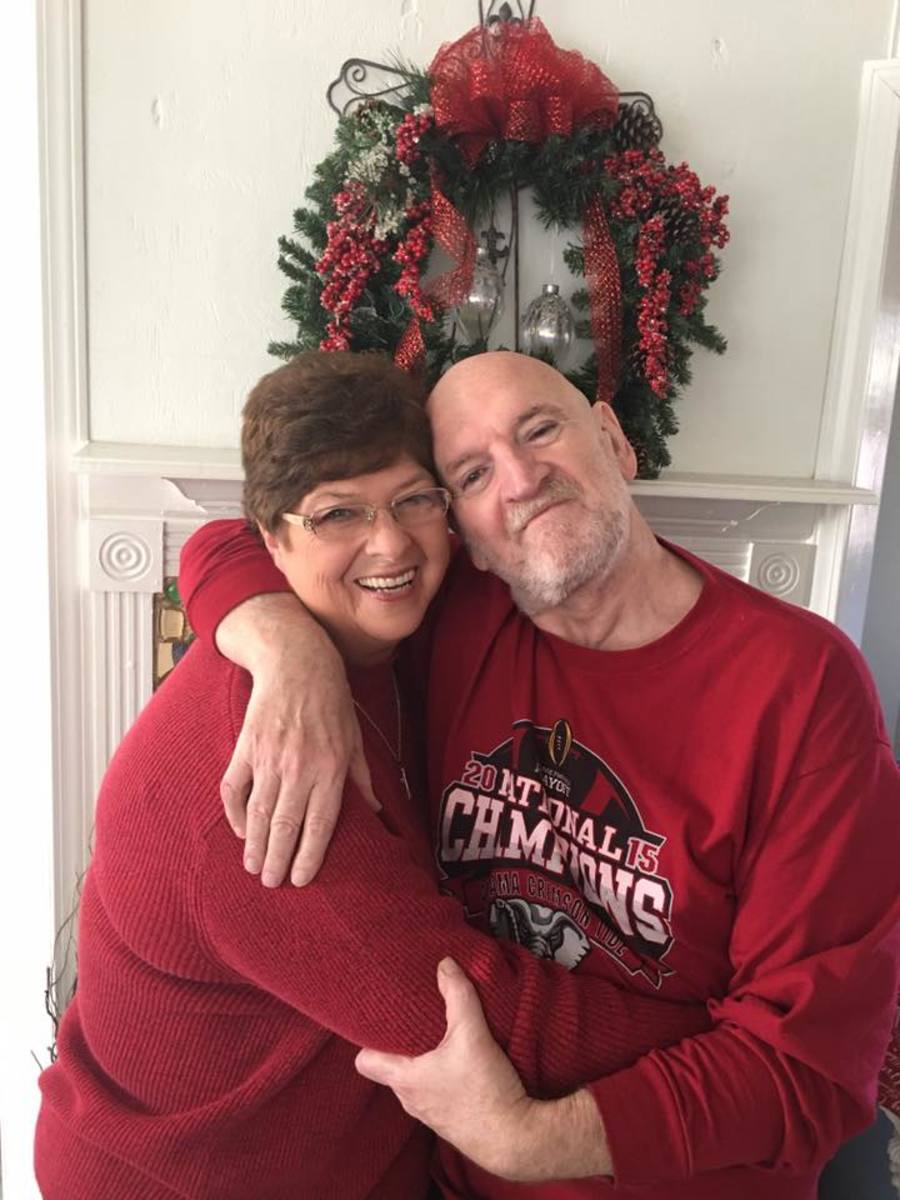 Christmas 2017 (from left) my wife, Pam and yours truly.