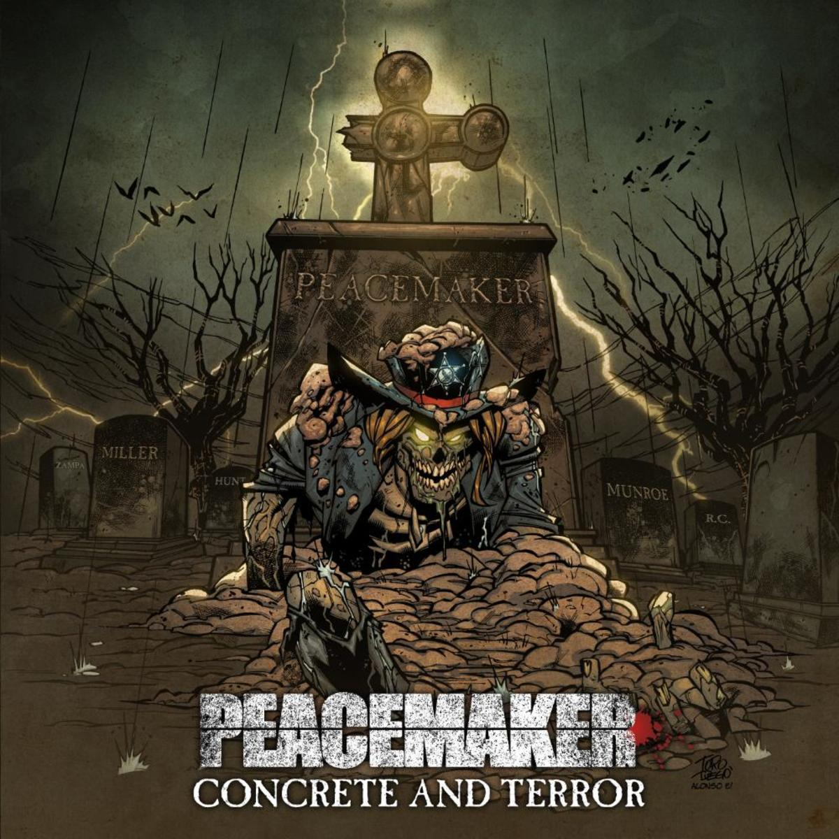 "Peacemaker ""Concrete and Terror"" album cover"