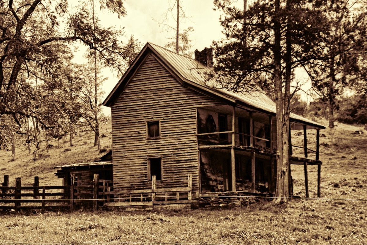 A handsome old homeplace from the mountains of North Carolina.