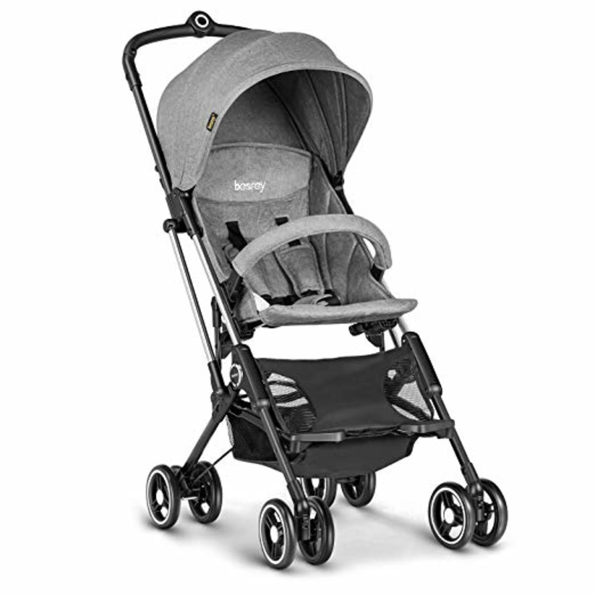 Besrey Airplane Stroller in Gray Color