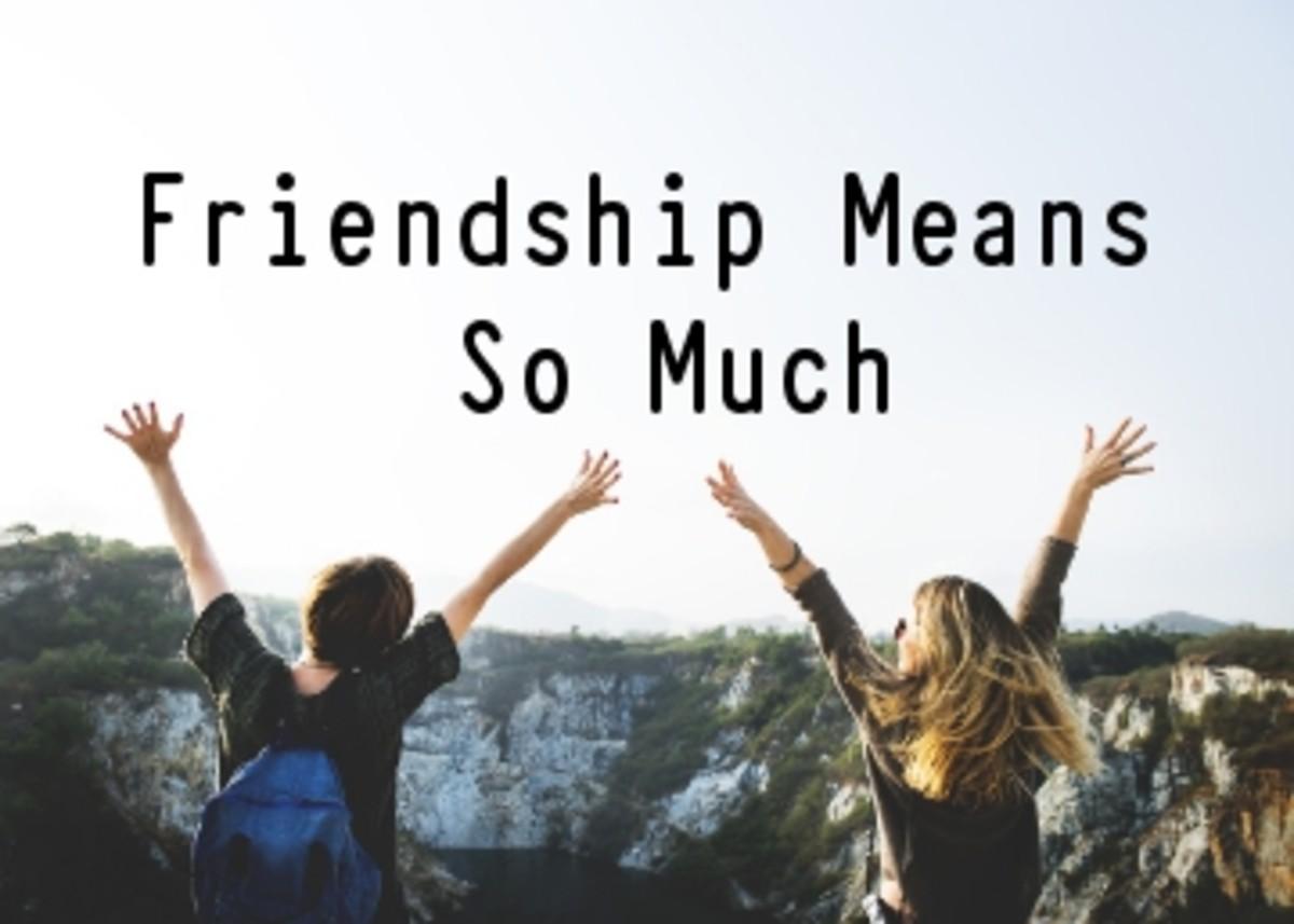 Poem:  Friendship Means Alot