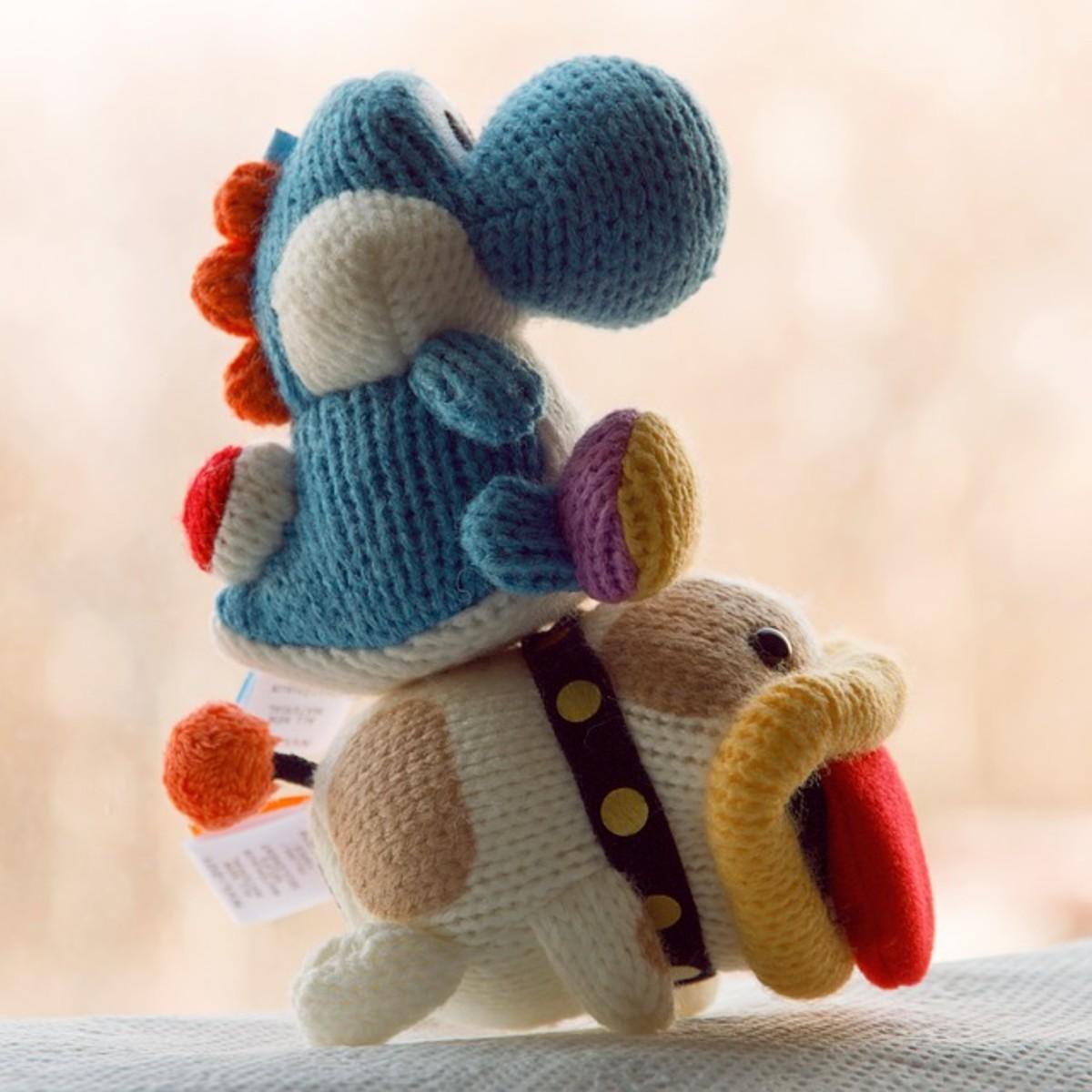 Yoshi riding Poochy