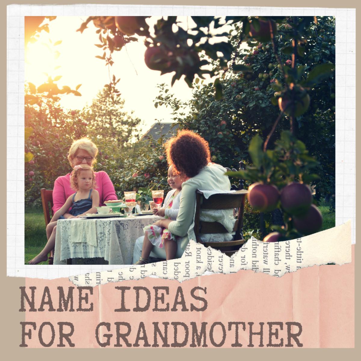 Altnernative Name Ideas for Grandmother