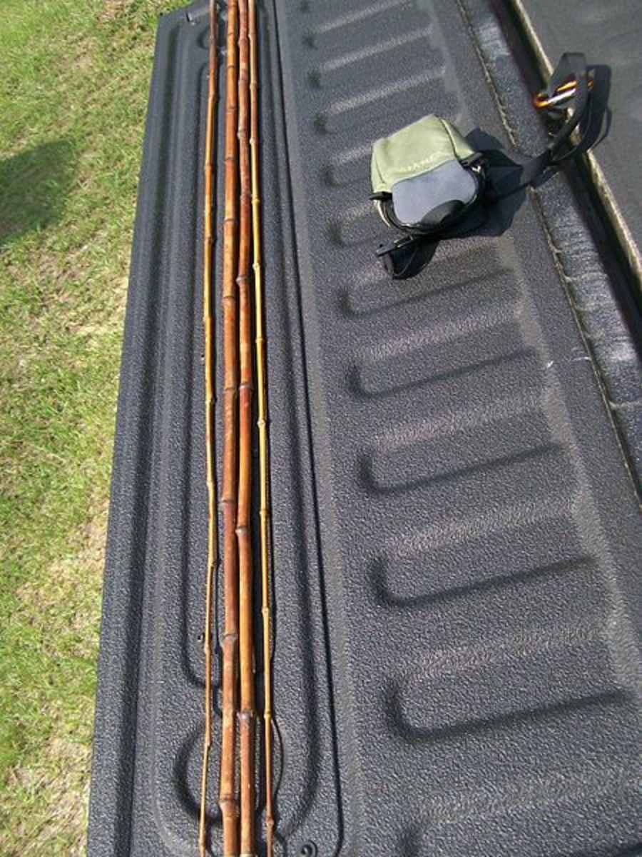 Actual cane poles.