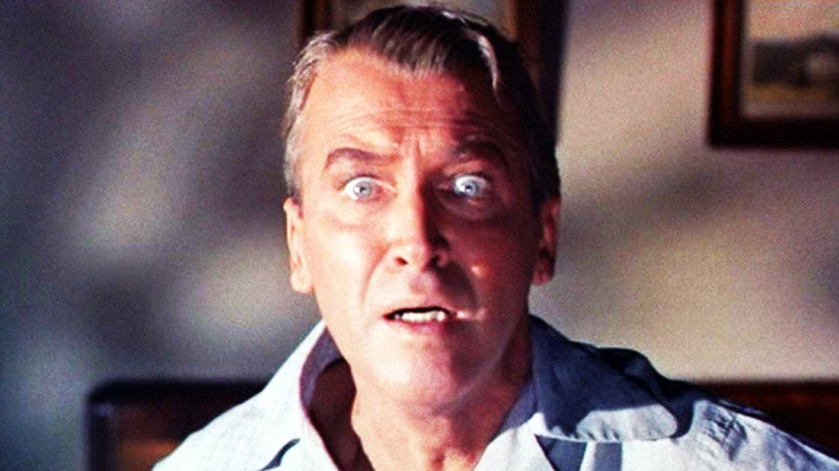 Jimmy Stewart in Alfred Hitchcock's 'Vertigo.'