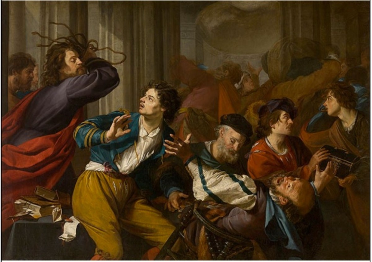 Christ Driving the Money changers from the Temple by Theodoor Rombouts