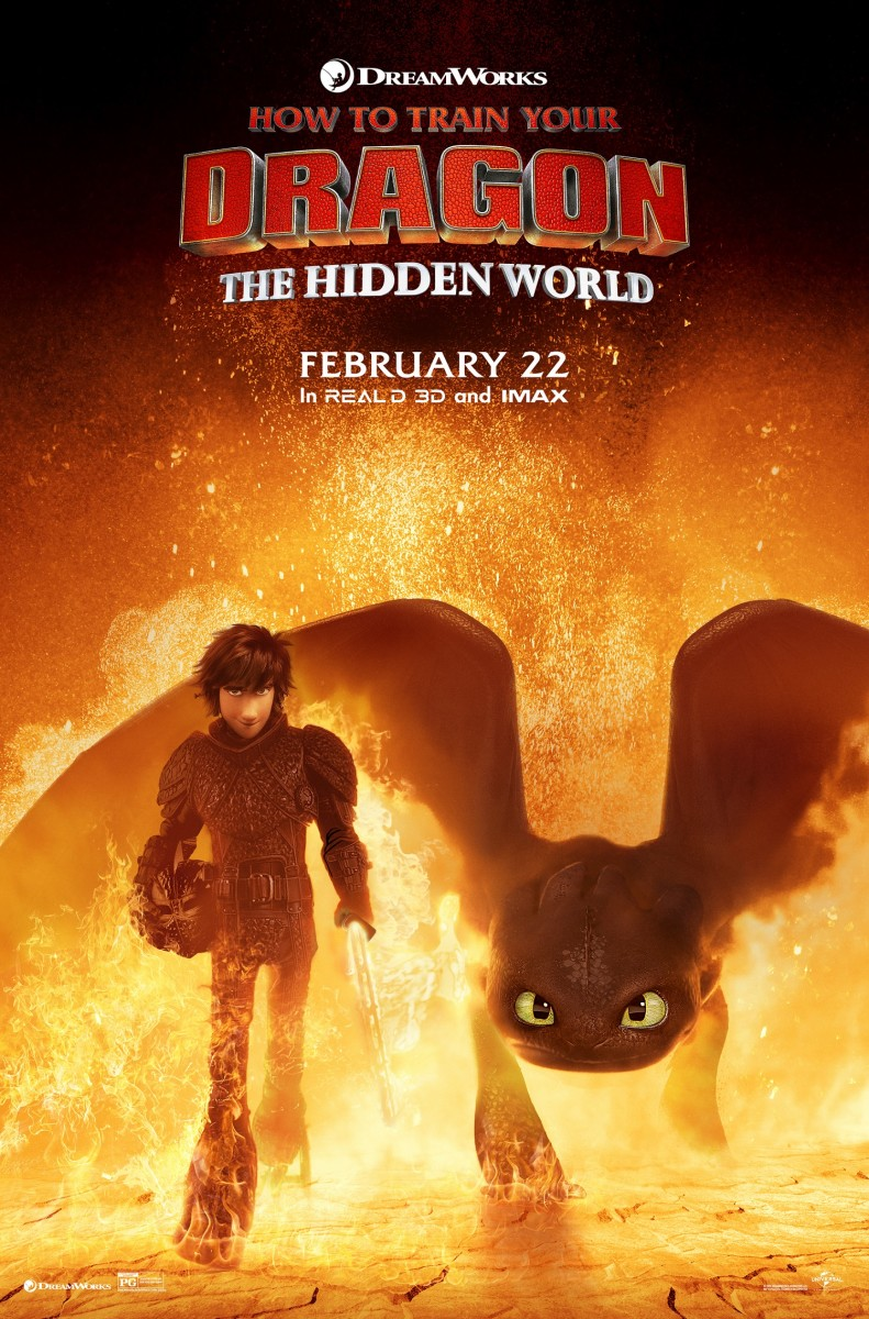 "One of several theatrical one-sheet posters for, ""How to Train Your Dragon: The Hidden World."""
