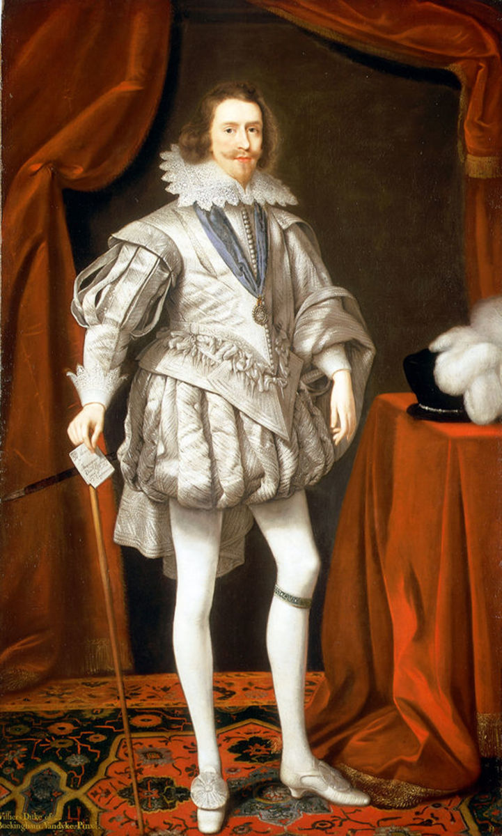 George Villiers, Duke of Buckigham, as Lord High Admiral, a portrait by Daniel Mytens the Elder, 1619