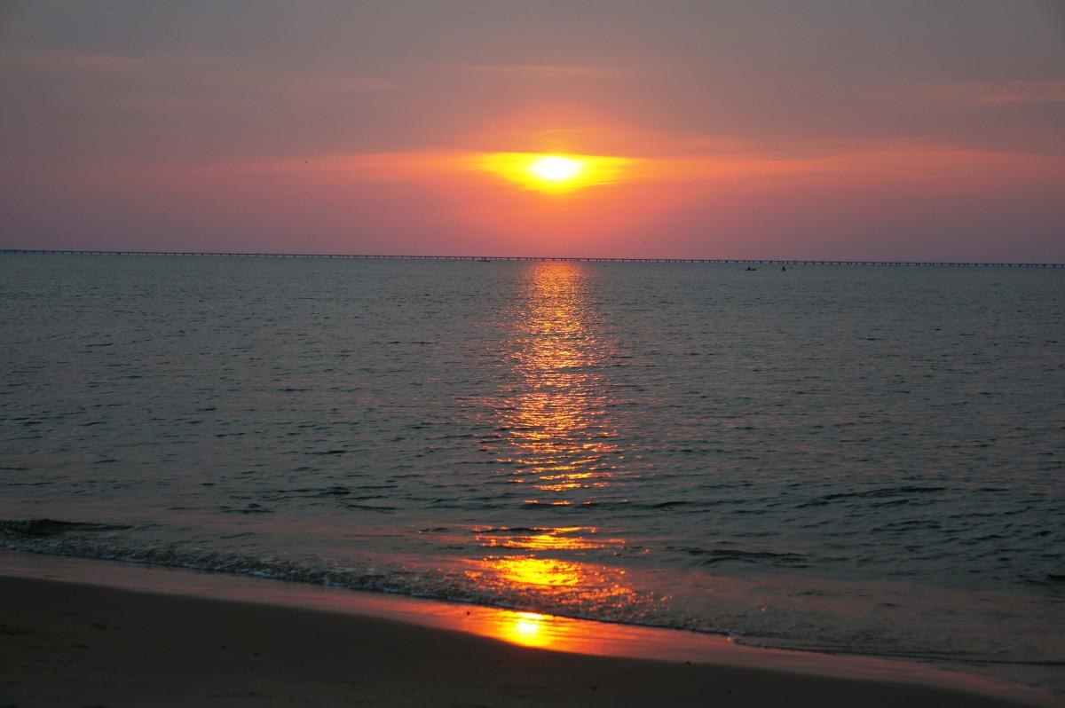 Sunset at First Landing State Park in Virginia Beach, VA