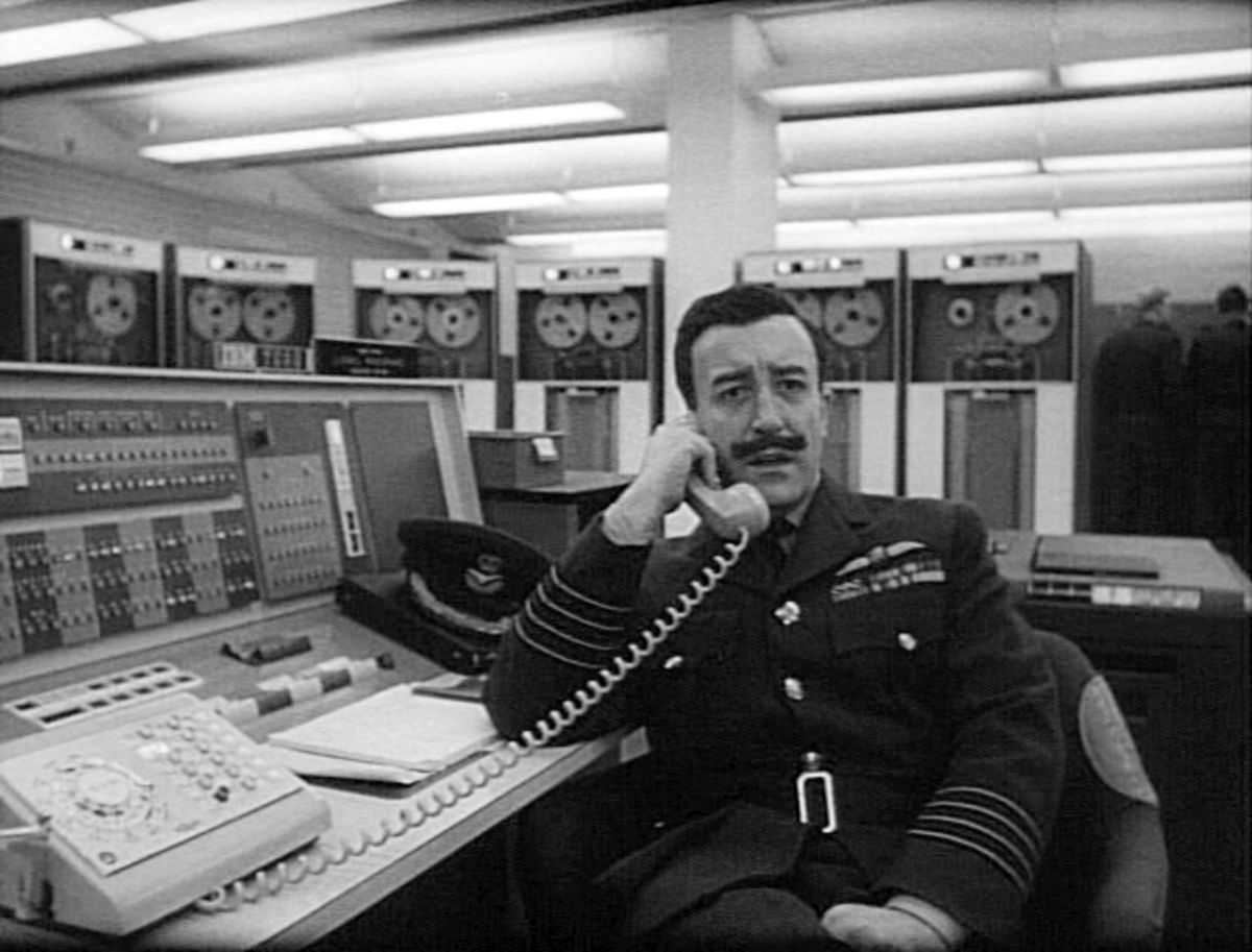 Peter Sellers as Group Captain Mandrake in 'Dr Strangelove'