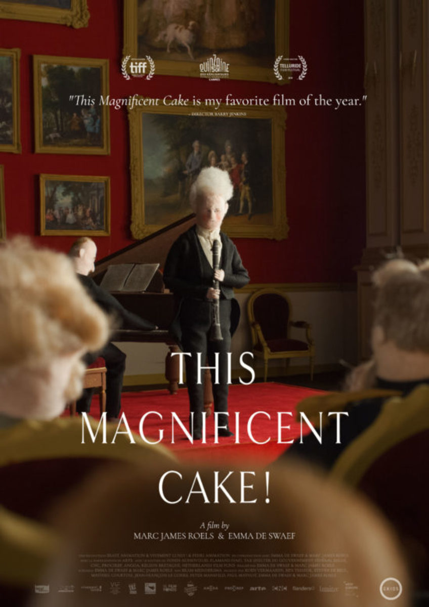 "The official theatrical poster for, ""This Magnificent Cake!"""