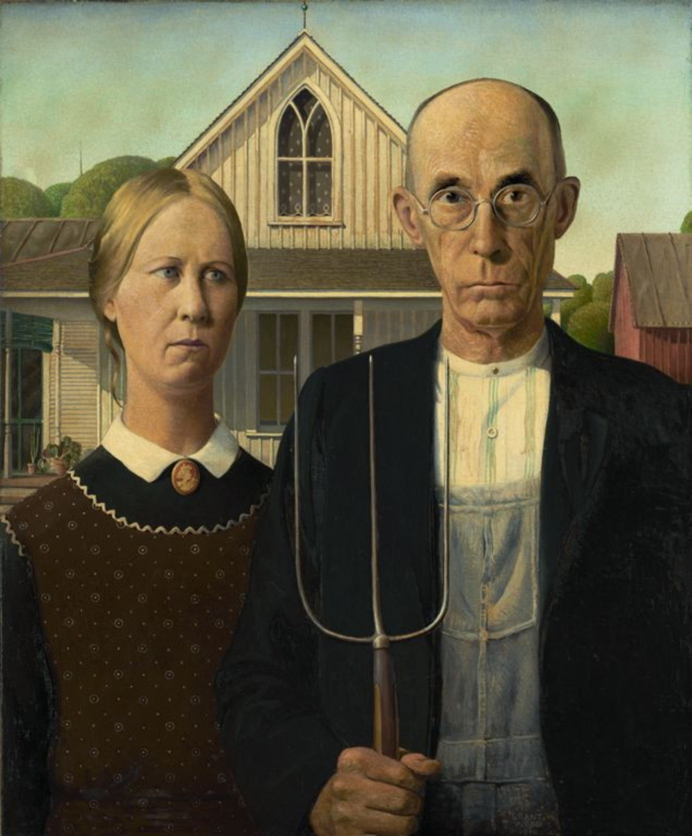 American Gothic by Grant Wood (public domain)