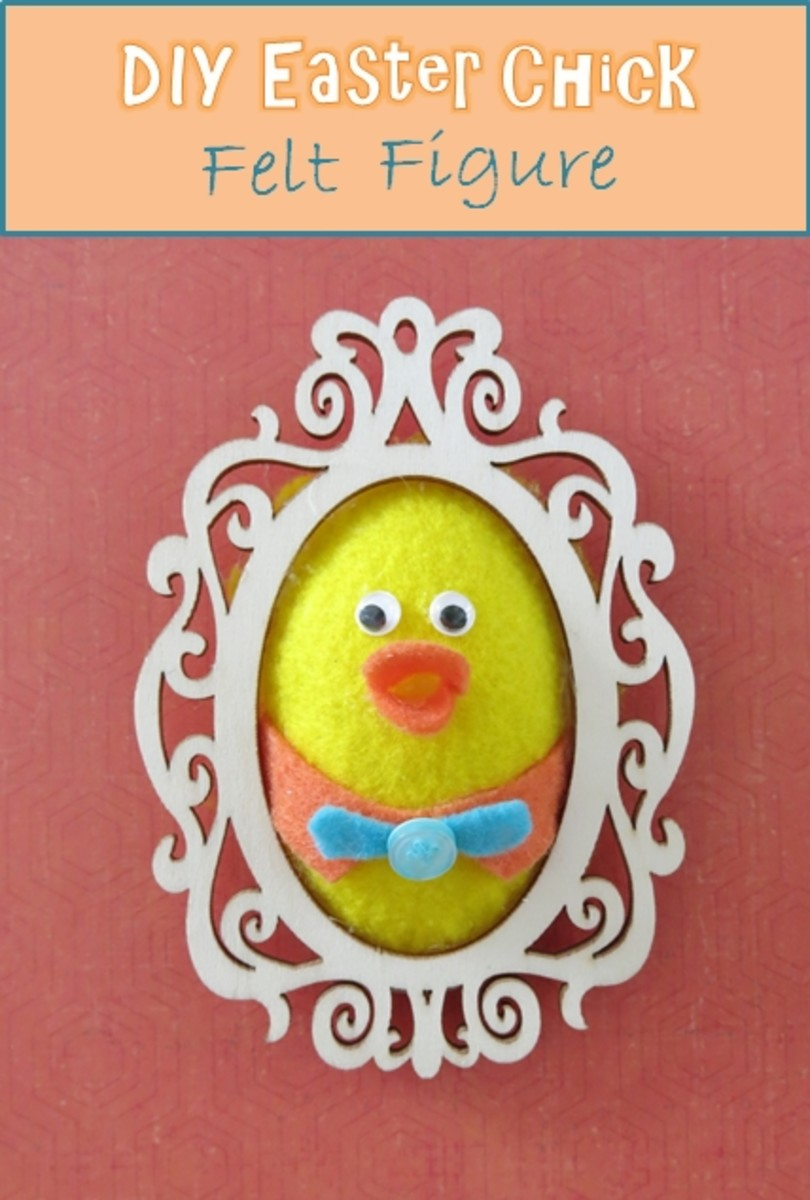 DIY Easter Chick Felt Figure