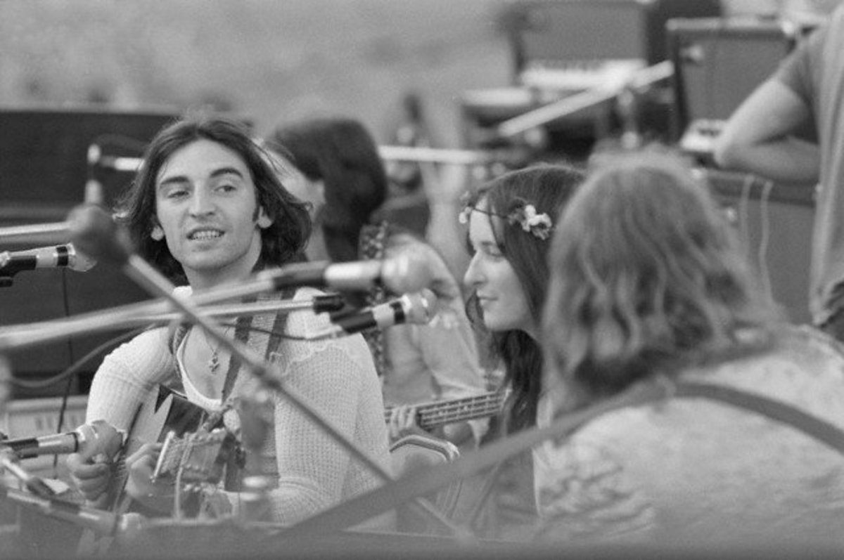 The Incredible String Band onstage at Woodstock