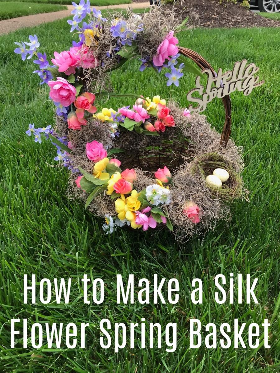 How to Make a Silk Flower Spring Basket