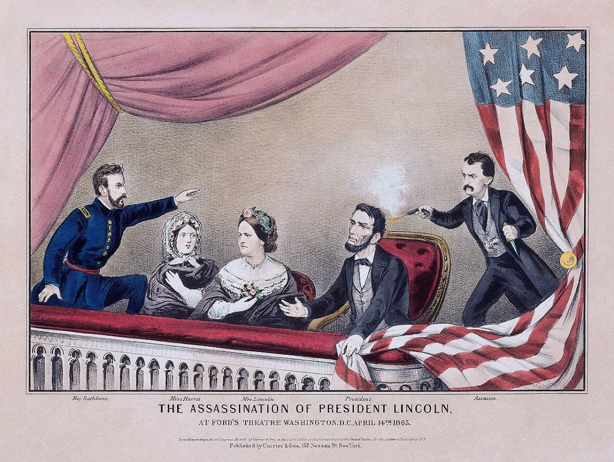 Artist's Depiction of Lincoln Assassination.