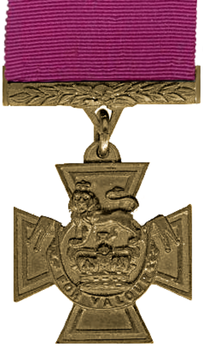 The Victoria Cross - this simple medal is the highest award for military valour in Great Britain