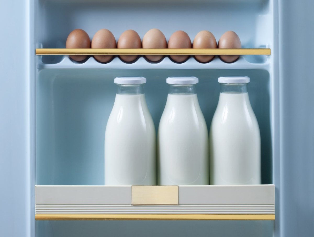 Don't Store Eggs and Milk on Your Refrigerator Door