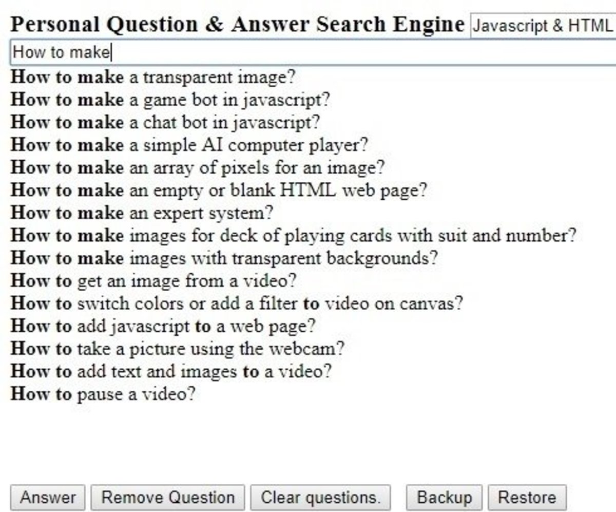 How to Make a Personal Question and Answer Search Engine in HTML & Javascript