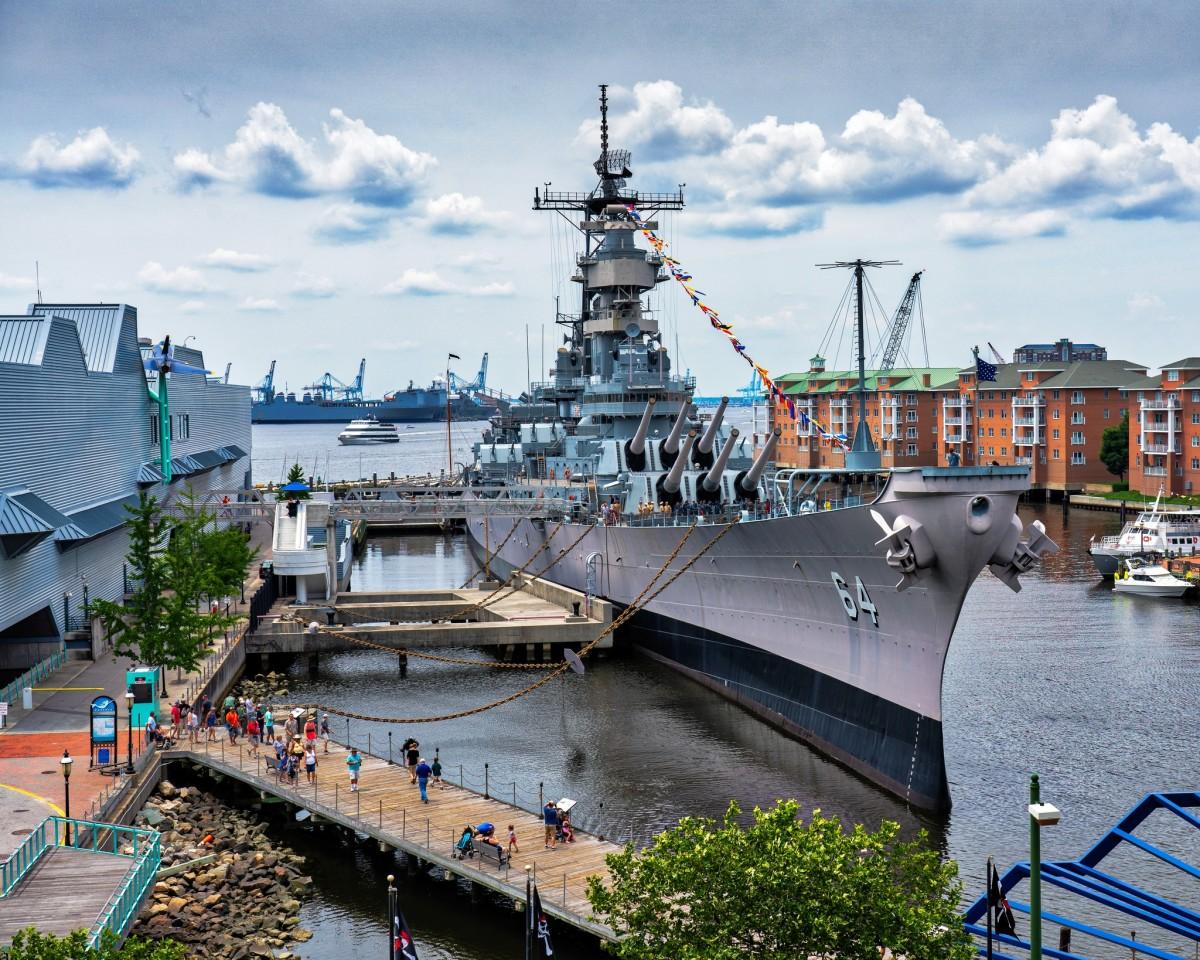 BB-64 USS Wisconsin in Norfolk, VA