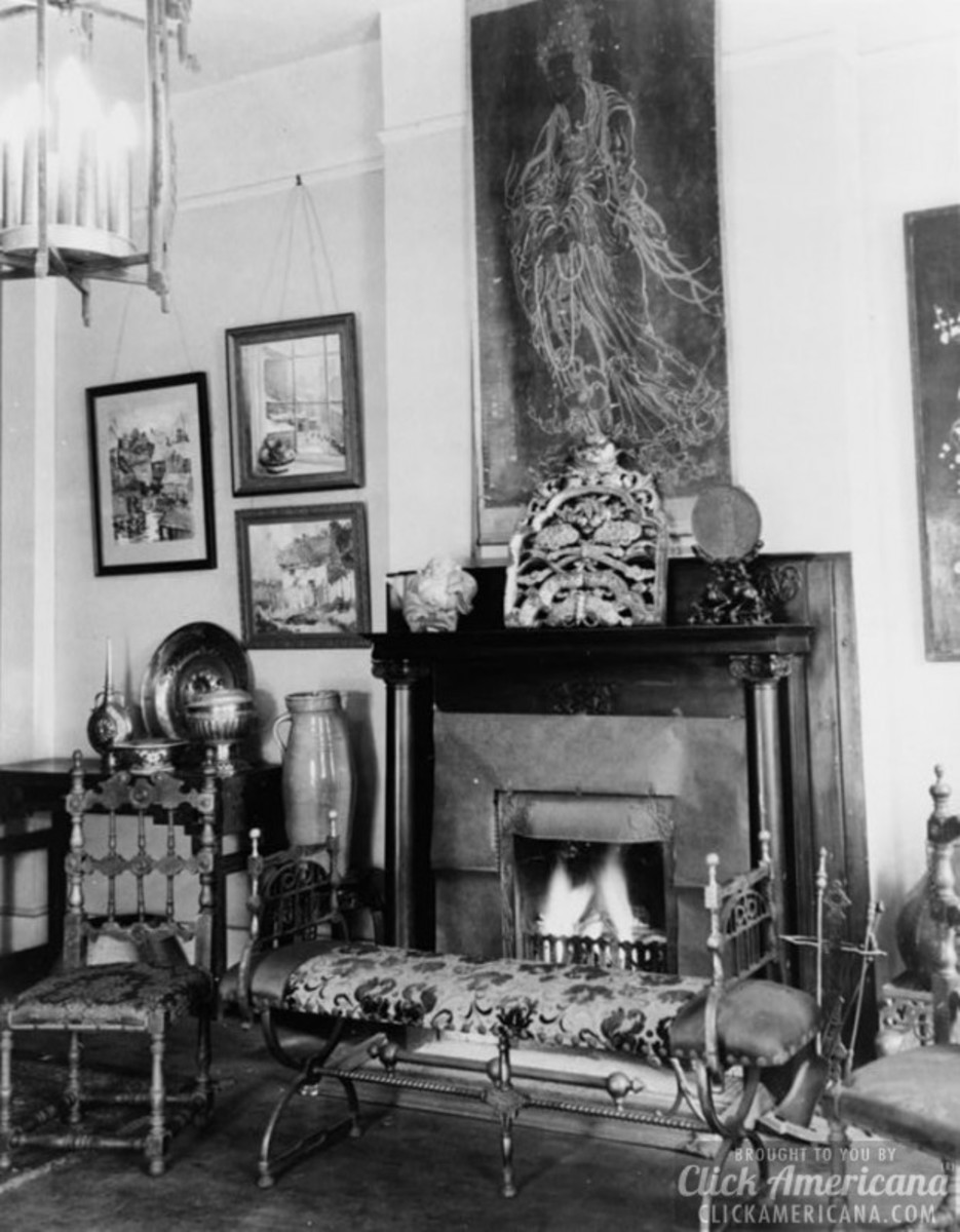A look back in time when people swore by a fireplace.