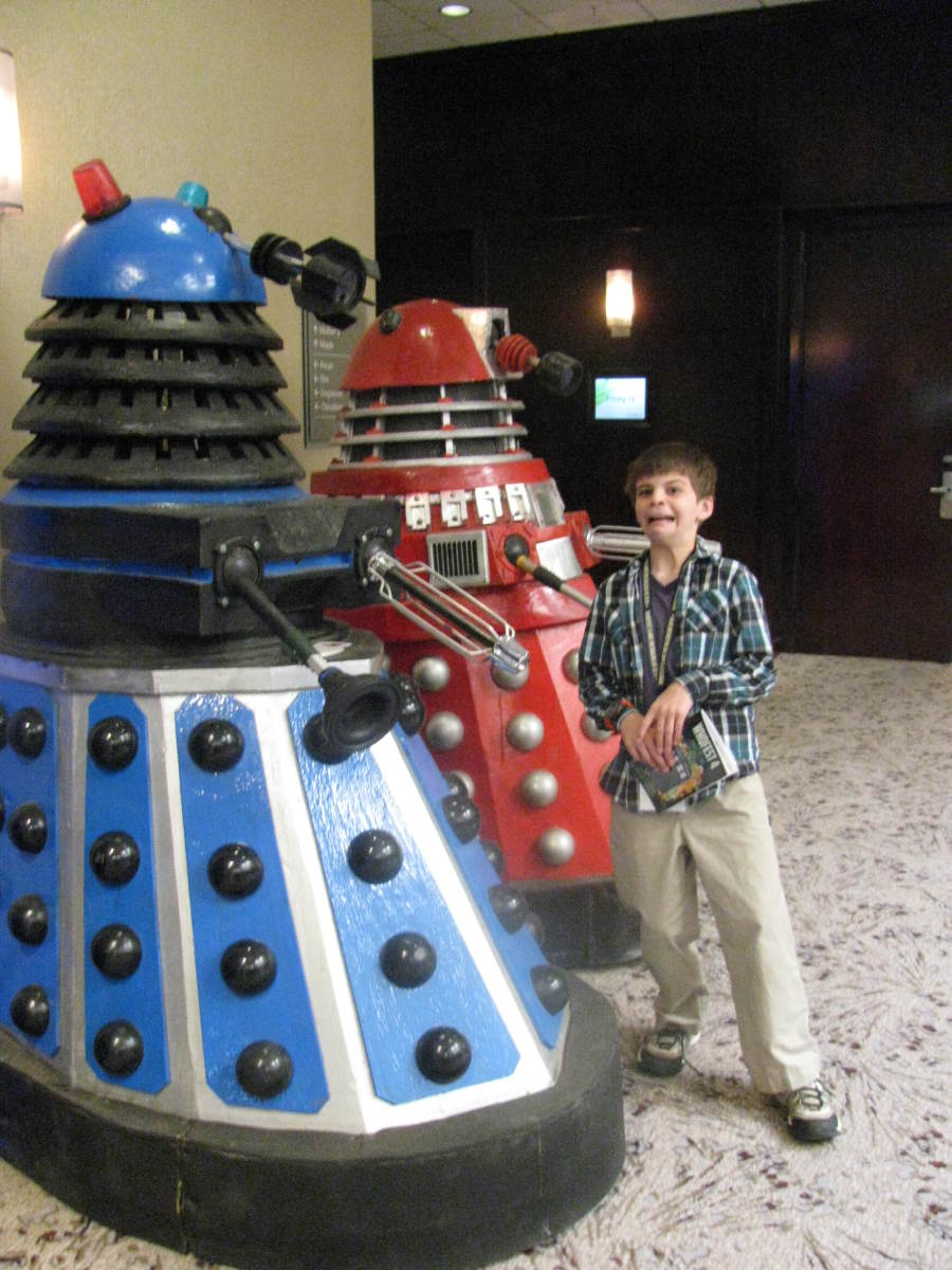 Son and Daleks at a Doctor Who Convention
