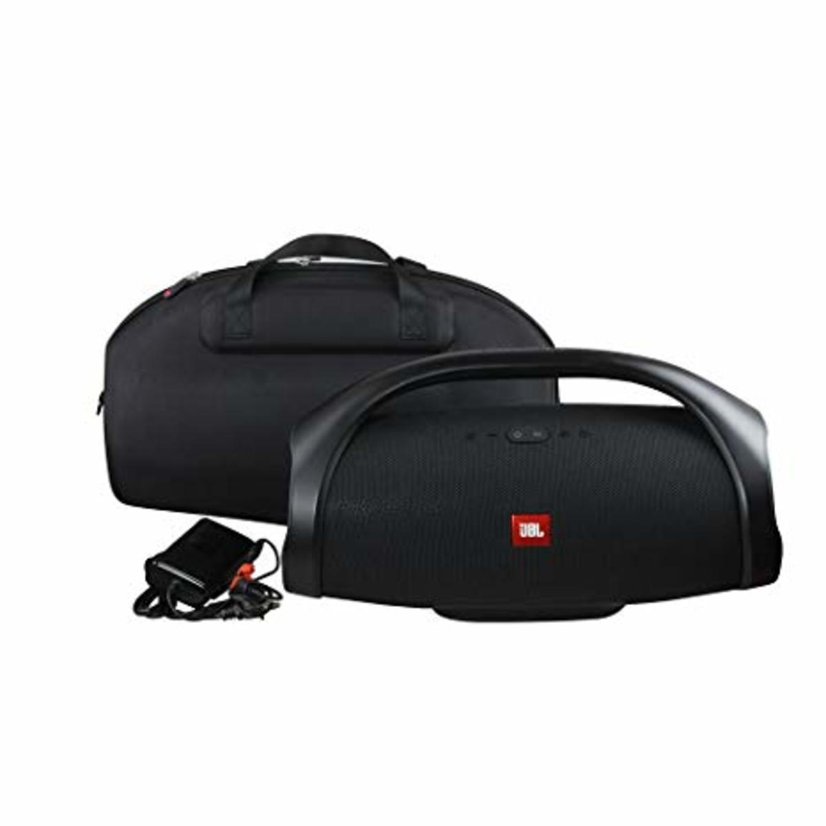 The JBL bluetooth boombox with the carrying case, sold separately.