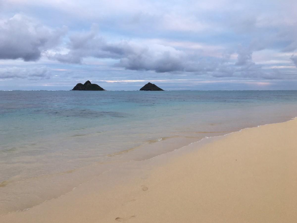 Mokulua Islands just off the shore of beautiful Lanikai Beach